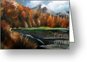 Colorful Photography Painting Greeting Cards - Nature Beauty 4 Greeting Card by Uma Devi