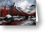 Colorful Photography Painting Greeting Cards - Nature Beauty 6 Greeting Card by Uma Devi