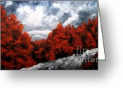 Colorful Photography Painting Greeting Cards - Nature Beauty 8 Greeting Card by Uma Devi