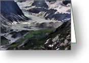 Glacier Greeting Cards - Natures Abstract Greeting Card by Kristin Elmquist