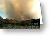 Glass Greeting Cards - Natures Fury  Greeting Card by The Kepharts