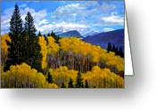 Featured Painting Greeting Cards - Natures Patterns - Rocky Mountains Greeting Card by John Lautermilch