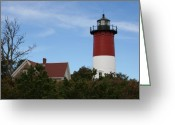 Nauset Beach Greeting Cards - Nauset Beach Light Greeting Card by Christiane Schulze