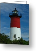 Nauset Beach Greeting Cards - Nauset Beach Lighthouse Greeting Card by Juergen Roth