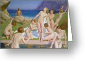 Erotica Painting Greeting Cards - Nausicaa Greeting Card by William McGregor Paxton