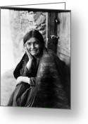 Daily Life Greeting Cards - Navajo Woman, 1904 Greeting Card by Granger