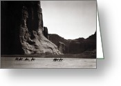 Indian Greeting Cards - Navajos: Canyon De Chelly, 1904 Greeting Card by Granger