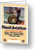 Political Propaganda Digital Art Greeting Cards - Naval Aviation Has A Place For You Greeting Card by War Is Hell Store