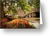 Riverwalk Greeting Cards - Navarro Street Bridge Greeting Card by Steven Sparks