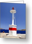 Precaution Greeting Cards - Navigation beacon. Greeting Card by Fernando Barozza