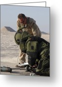 Color Bending Greeting Cards - Navy Explosive Ordnance Disposal Mobile Greeting Card by Stocktrek Images