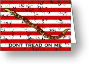 Patriotism Greeting Cards - Navy Jack Flag Greeting Card by War Is Hell Store