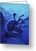 Special Delivery Greeting Cards - Navy Seals Submerge And Lock Back Greeting Card by Michael Wood