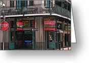 Bourbon Greeting Cards - Nawlins Greeting Card by David Bearden