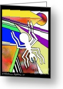 Georgia Greeting Cards - Nazca Spider Greeting Card by Rebecca  Stephens