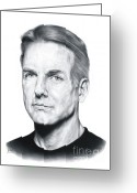 Celebrities Drawings Greeting Cards - NCIS Special Agent Leroy Jethro Gibbs Greeting Card by Sheryl Unwin