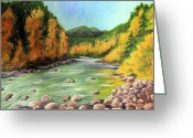 Cal Kimola Greeting Cards - Near Goldbridge BC  Greeting Card by Cal Kimola