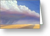 Featured Painting Greeting Cards - Nebraska Vista Greeting Card by Jerry McElroy