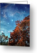 Nebula Greeting Cards - Nebula Treescape Greeting Card by Paul Grand Image