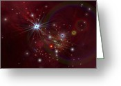 Twinkle Greeting Cards - Nebular Clouds, Gases And Stellar Greeting Card by Corey Ford
