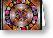 Geometric Greeting Cards - Nebulosity Greeting Card by Bell And Todd