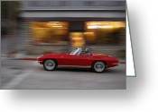 1964 Corvette Greeting Cards - Need for Speed  Greeting Card by Dennis Hedberg