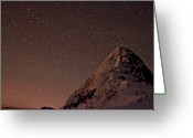 Snowcapped Greeting Cards - Needle Peak And Starry Night Greeting Card by Christopher Kimmel