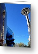 Iconic Architecture Greeting Cards - Needle Reflection Greeting Card by Randall Weidner