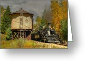 Rio Grande Greeting Cards - Needleton Water Tank Greeting Card by Ken Smith