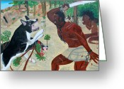 Nicole Jean-louis Greeting Cards - Neg Mawon Haiti 1791 Greeting Card by Nicole Jean-Louis