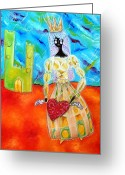 Wins Greeting Cards - Negra Princesita Greeting Card by Patricia  Quinche