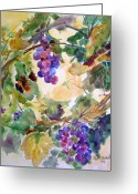 Vine Mixed Media Greeting Cards - Neighborhood Grapevine Greeting Card by Kathy Braud