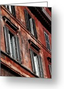 Window Prints Posters Greeting Cards - Neighborhood Windows Greeting Card by John Rizzuto