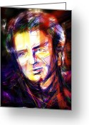 1990s Greeting Cards - Neil Finn Greeting Card by Russell Pierce