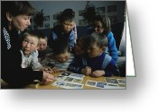 Peoples Greeting Cards - Nenets Students Must Learn Russian Greeting Card by Maria Stenzel
