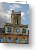 Weimar Greeting Cards - Neo-Gothic Weimarer City Hall Greeting Card by Christine Till