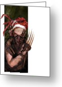 Dreadlocks Greeting Cards - Neobedouin - Beast Dancer Greeting Card by Mandem  