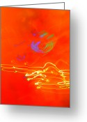 Diane Montana Jansson Greeting Cards - neon III Greeting Card by Diane montana Jansson
