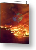 Diane Montana Jansson Greeting Cards - neon IV Greeting Card by Diane montana Jansson
