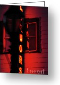 Bar Decor Greeting Cards - Neon Liquor Greeting Card by Anahi DeCanio