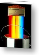 Glowing Greeting Cards - Neon Paintbrush Greeting Card by Garry Gay