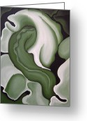 Kelso Greeting Cards - Nephrite Greeting Card by Bonnie Kelso