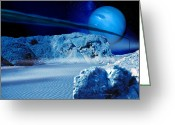 Ices Greeting Cards - Neptune From Triton Greeting Card by Detlev Van Ravenswaay