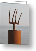 Fun Sculpture Greeting Cards - Neptune Greeting Card by Richard Heffron