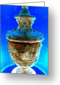 Greek Sculpture Digital Art Greeting Cards - Neptunes Urn Greeting Card by Randall Weidner