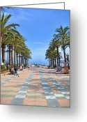 Andalucia Greeting Cards - Nerja by the Mediterranean Greeting Card by Mary Machare