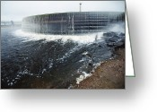 Hydroelectric Greeting Cards - Neryungri Hydroelectric Dam, Russia Greeting Card by Ria Novosti