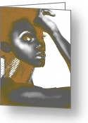 Makeup Greeting Cards - Nesha Greeting Card by Irina  March