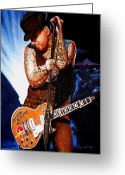 Rock Groups Greeting Cards - Ness at his Best Greeting Card by Al  Molina