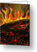 Tilly Strauss Greeting Cards - Nest on fire Greeting Card by Tilly Strauss
